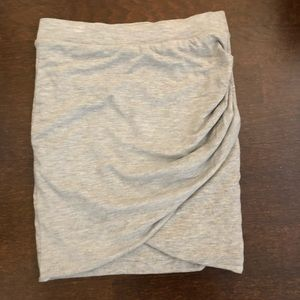 Zara Heather Grey Wrap Skirt